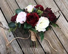 Boho Bouquet Burgundy and Blush Bouquet Wildflower Bouquet