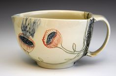 I love the slightly off centre shape of this ceramic cup. Beautiful design by Michelle SummersI love the slightly off centre shape of this ceramic cup. Beautiful design by Michelle Summers Ceramic Tableware, Ceramic Clay, Ceramic Pottery, Pottery Art, Slab Pottery, Thrown Pottery, Pottery Studio, Ceramic Bowls, Earthenware