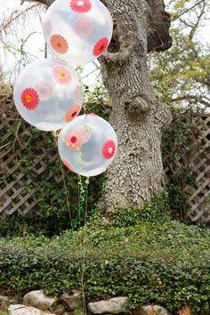 Bexigas decoradas com copinhos de brigadeiro - Dicas pra Mamãe