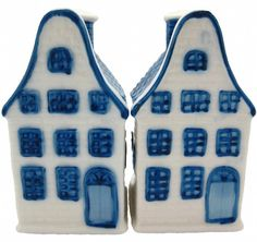 Delft Blue Houses Salt and Pepper Set