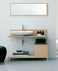 simple sink + counter Agape Bathrooms