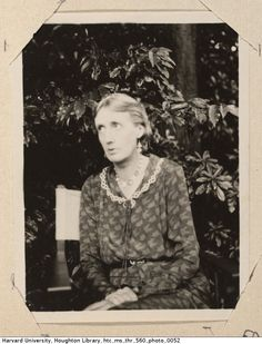Virginia Woolf sits on a chair outdoors n.d.