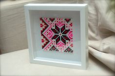 winter pattern beads art by madpolka on Etsy from vintage sweater pattern