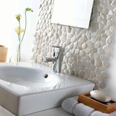 Ideas Bath Room Big Shower Pebble Floor For 2019 Nautical Bathrooms, Big Bathrooms, Amazing Bathrooms, Small Bathroom, Bathroom Ideas, Master Bathroom, Bathroom Shop, Bathroom Floor Tiles, Bathroom Rugs