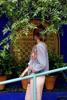 Jardin Majorelle / Marakesch / OOTD / Summer Style / Boho / Hippie / Urlaub / Reusen / Zara / Plants