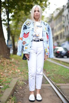 Personalize your jean jacket with custom patches and stitching.