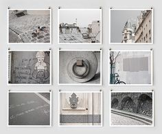 Save 20%, Paris Photography Collection, Gray - French Fine Art Photography Art Prints- Paris Decor, Large Wall Art, Home Decor, Modern. $145.00, via Etsy.