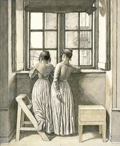 Christoffer Wilhelm Eckersberg (Danish, 1783–1853) The Artist's Two Daughters, 1852 Watercolor on paper; 10 3/4 x 9 1/8 in. (27.4 x 23.1 cm) Statens Museum for Kunst, Copenhagen