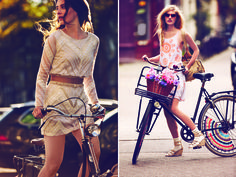 Loving Free People's January catalog, shot by Guy Aroch in bike friendly Amsterdam and featuring their newest collection of artisan bike accessories.