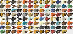 An almost all Reverend Guitars mosaïc ? Which one is yours or future ?