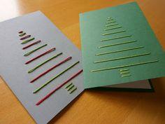 Postkarte Weihnachten Tannenbaum