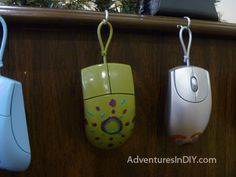 I know some nerds this is perfect for. Computer mouse ornaments!