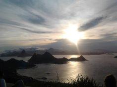 Por do sol visto de Niterói