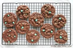 Chocolate Mint Chip Cookies - Dessert Now, Dinner Later!