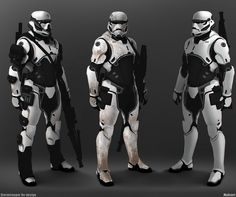 star-wars-fan-art-stormtrooper-elite-and-darth-vader-redesign by Mohammed Z. Star Wars Fan Art, Rpg Star Wars, Star Wars Concept Art, Cyberpunk, Star Citizen, Batman Redesign, Images Star Wars, The Dark Side, Star Wars Personajes