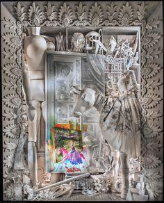 "Eight of the best Christmas window displays: Bergdorf Goodman, ""Painting"" window Christmas Windows, Christmas Window Display, Christmas Fun, Christmas Store, Christmas Shopping, Bergdorf Goodman, Bolo Super Mario, Ultimate Spider Man, Nyc Holidays"