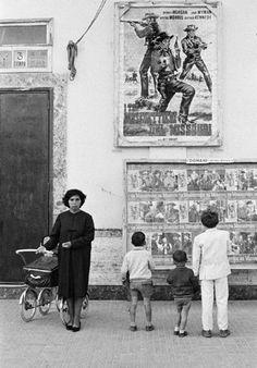 BRINDISI, Italy—The local cinema, 1964.  © David Hurn / Magnum Photos