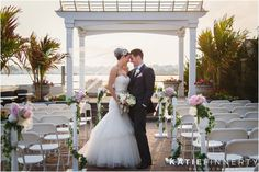 Bride and Groom at Lombardi's on the Bay Long Island Outdoor Wedding Ceremony.  Photography by Katie Finnerty Photography http://www.katiefinnertyphotography.com/blog/2015.6.17.lombardis-on-the-bay-wedding-amanda-aj