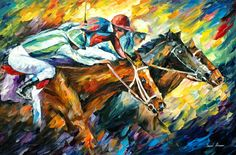 """""""Dead Heat"""" by Leonid Afremov ___________________________ Click on the image to buy this painting ___________________________ #art #painting #afremov #wallart #walldecor #fineart #beautiful #homedecor #design"""