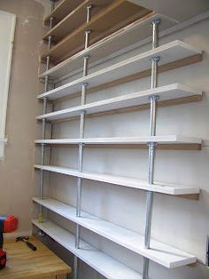 The Life of CK and Nate: Pantry Shelves: Done! Instructions and details on thes shelves and how to bid them