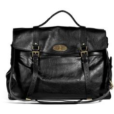 MULBERRY Black Postman Lock Travel Bag ($2,215) ❤ liked on Polyvore featuring men's fashion, men's bags, bags, purses, bolsas, handbags, borse, filler, mens leather bag and mens travel bag
