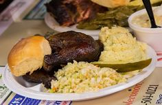 Miss Myra's Pit Bar-B-Q: Amazing barbecued chicken and one hell of a banana pudding.