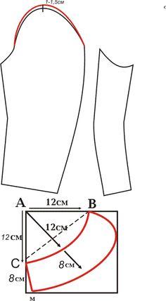 Patrón de la capa de la manga