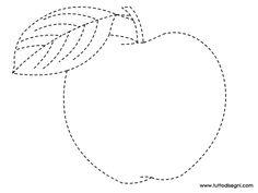 Esercizi di pregrafismo - La mela - TuttoDisegni.com