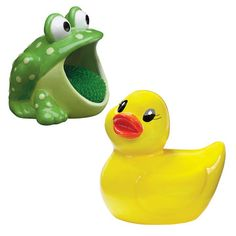 Frog And Duck Scrubby Holder now featured on Fab.
