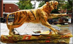 "Tigers Around Town, University of Memphis - 1914 ""Search for Knowledge"" by Pam Cobb"