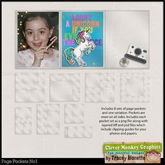 Page Pockets No1 by Clever Monkey Graphics - Digital scrapbooking kits available through Oscraps, GingerScraps, or MyMemories