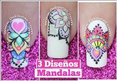 3 diseños de Mandalas Perfect Nails, Nail Arts, Diy And Crafts, Nail Designs, Hair Beauty, Diana Diaz, Manicures, Youtube, Beautiful