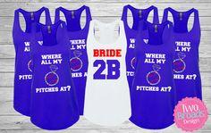 Bachelorette Party Shirts Tanks Bridesmaid Tanks, Baseball Bachelorette Shirts, Bride Tank Top, Bachelorette tank, Bridesmaid Tank by TwoBroadsApparel on Etsy https://www.etsy.com/listing/452909916/bachelorette-party-shirts-tanks