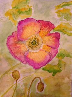 My rendition of Debbie's Icelandic Poppy...