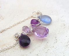 Purple Necklace Wire Work Jewelry Amethyst Necklace by QuietRobin, $40.00