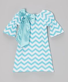 This Blue Zigzag Swing Dress - Girls by Tutus by Tutu AND Lulu is perfect! #zulilyfinds