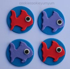 12 edible TROPICAL FISH OCEAN disc cupcake cake topper decorations anniversary birthday 16th 21st baby shower christening school sea animals by cookiecookieyumyum on Etsy