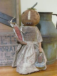 Primitive Pumpkin Doll Make Do