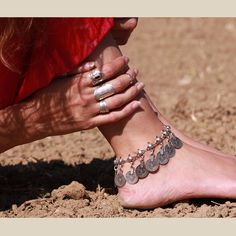 Anklet from the Antalya Collection Ankle Jewelry, Loc Jewelry, Ankle Bracelets, Jewelery, Chain Jewelry, Antalya, Middle Finger Ring, Beach Anklets, Ankle Chain