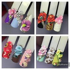 Acrylic flowers on nails                                                                                                                                                                                 More