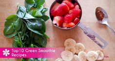 Top 10 Green Smoothie Recipes For more recipes (también en español) visit: latinahips.com Green Smoothie Recipes, Smoothies, Cantaloupe, Fruit, Food, Essen, Smoothie, Yemek, Smoothie Packs