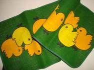 Retro Easter Danish textile table runner from INKA PRINT  - 1970es. Material is jute. #retro #Danish #Easter #textile #1970 #dansk #påske #tekstil #bordløber #inkaprint SOLGT/SOLD From TRENDYenser.com