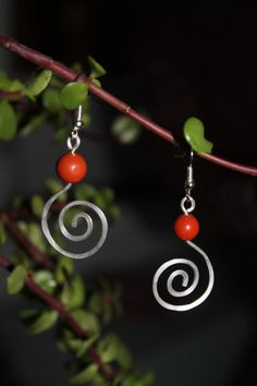 wire wrapped jewelry handmade silver wire earrings by shahrinalam, $14.00