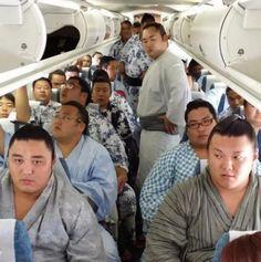 Sumoist inside a plane