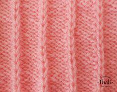 Un joli point fantaisie facile à réaliser à partir de mailles en jersey envers et de mailles doubles endroit. Le Point, Knitting Stitches, Knit Crochet, Sewing, Texture, Pattern, Motifs, Dots, Tejidos