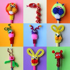 Pipe cleaner projects, pipe cleaner animals, crafts with pipe cleaners Diy Crafts How To Make, Quick Crafts, Diy Crafts For Kids, Fun Crafts, Paper Crafts, Craft Stick Crafts, Pipe Cleaner Projects, Pipe Cleaner Art, Pipe Cleaner Animals