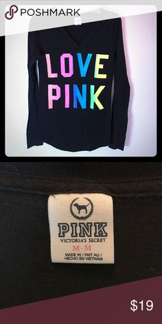 PINK Victoria's Secret long sleeve Perfect condition PINK Victoria's Secret Tops Tees - Long Sleeve