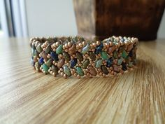 English Garden Knit Herringbone Bracelet by Wescott Jewelry
