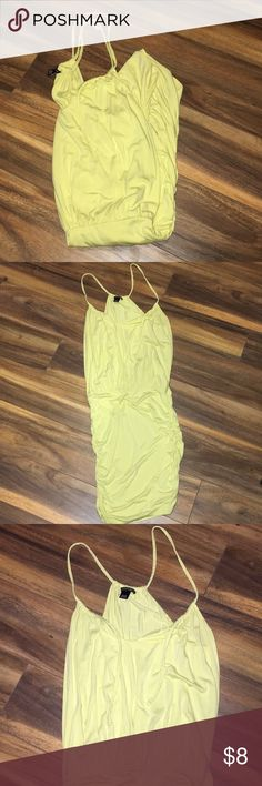 Yellow Victoria's Secret Dress Light yellow dress.  Great condition. Lose on the top and fitted around the hips and thighs. Very soft material PINK Victoria's Secret Dresses Midi