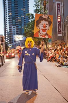 Seafair Clowns. An old childhood friend... J.P. Patches and Gertrude...
